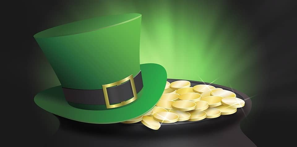 irish hat and gold
