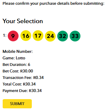 pay for sa Lottery online